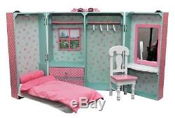 18 Inch Doll Storage Bedroom Trunk Suit case For American Girl Furniture PBRT