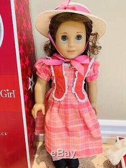 18 RETIRED AMERICAN GIRL DOLL MARIE GRACE WithMEET OUTFIT HAT & HEART LOCKET