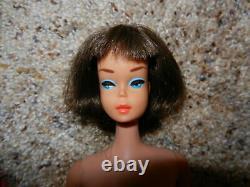 1965 Vintage Brunette Long Hair American Girl Barbie In Oss Htf Rare