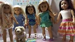 5 American Girl Dolls Chrissa, Mia, Julie, Jess, Kailey, and Sandy