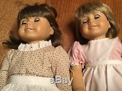 AMERICAN GIRL-LOT of 2, PLEASANT CO. DOLLS 18 IN. Some orig. Clothes estate Find