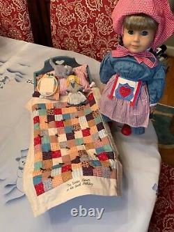 AMERICAN GIRL RET'D KIRSTEN DOLL With PLEASANT COMPANY BED, QUILT, CAT, RAG DOLL