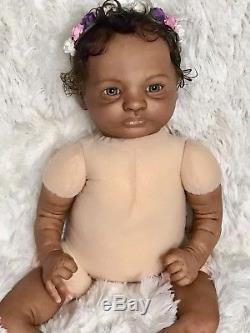 African American Aa black girl ethnic reborn Bountiful baby doll Presley sculpt