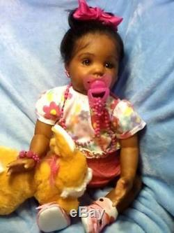 African American, Ethnic Realistic Baby Girl Doll, Chanel