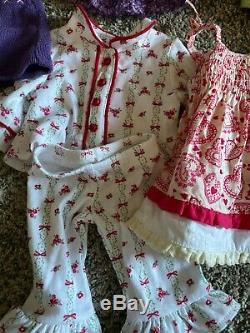 America Girl Bitty Baby Huge Lot Outfits Dresses Pants Hats Pajamas Doll Clothes