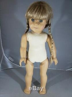 American Girl 18 Doll KIRSTEN White Body Flat String Blue Eyes Pleasant AS IS