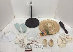 American Girl 18 Felicity Doll Pleasant Company 9 Outfits, Horse, Accessories