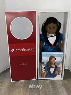 American Girl 18 inch Cecile Doll complete with book NEW NRFB Retired