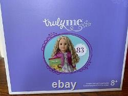 American Girl 83 Truly Me Doll Hazel Eyes, Curly Blond Hair, Light Skin NEW