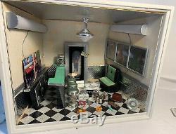 American Girl AG Minis Illuma Room LiL's Diner Miniature Ships FREE