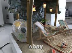 American Girl AG Minis Illuma Room Seaside Beach Cabana Set With Platform & Cord