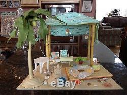 American Girl AG Minis Seaside Cabana Complete Set Working Lights