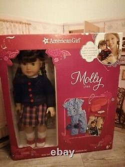 American Girl Beforever Molly Doll Lot Meet Outfit Accessories Pajamas BNIB NRFB