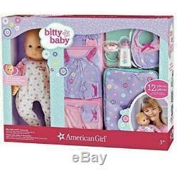American Girl Bitty Baby 12-piece Doll Set Variety, FairSkin BrownHair BrownEyes