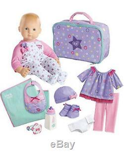 American Girl Bitty Baby 12-piece Doll Set Variety, MediumSkin, DarkBrown Hair