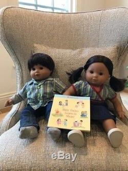 American Girl Bitty Twins Brown Eyes Brunette Dark/Medium Skin
