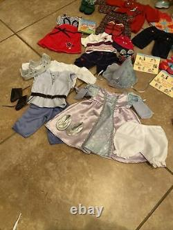 American Girl Bitty Twins Large Lot Includes Christmas Outfits plus 10 Outfits