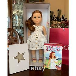 American Girl Blaire Wilson Doll with Book NEW No top of box