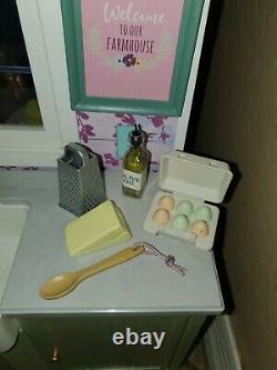 American Girl Blaire's FAMILY Farm House Playset Food RESTAURANT for BLAIR Doll
