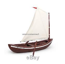 American Girl CAROLINE SKIFF for 18 Doll Wood Boat Ship Sailing Sail NEW