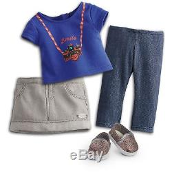 American Girl CC Z YANG 18 INCH DOLL & BOOK Brown Hair Brown Eyes Clothes NEW