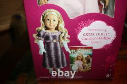 American Girl Caroline Abbott Doll 18 NRFB NIB Rare Retired Plus Holiday Gown