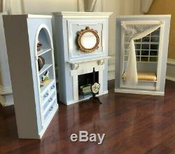 American Girl Caroline's Parlor COMPLETE Living Room Fireplace Doll House