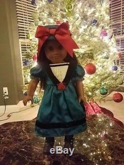 American Girl Cecile 18 doll Retired With Book, Box & Xtra Outfit Pre-owned