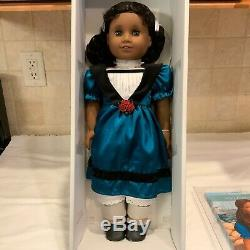 American Girl Cecile Rey 18 Doll with Dress Pantalettes Boots & Book- New In Box