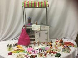 American Girl Doll 2013 Campus Snack Cart Hotdog Stand Cookies Ice Cream Food