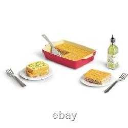 American Girl Doll 3 FOOD Sets WAFFLE BREAKFAST Lasagna Dinner + Milkshake SET