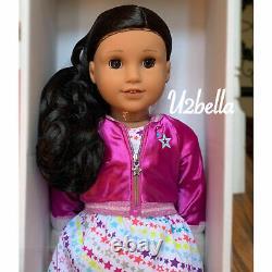 American Girl Doll 82 Truly Me & BOOK Medium skin, curly hair Brown Eyes NEW