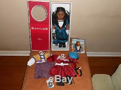 American Girl Doll Cecile Retired. Original box, accessories, and bonus dresses
