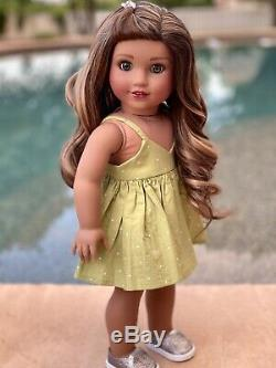 American Girl Doll Custom CYO Medium Tan Skin, Green Eyes, Brunette, Valentina