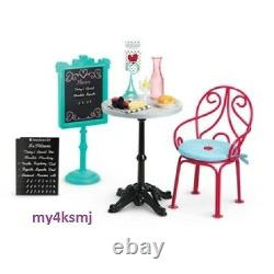 American Girl Doll Grace's BISTRO SET Table Menu Chair + more FAST SHIPPING
