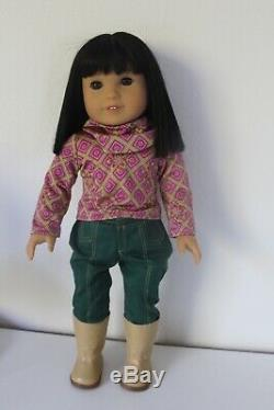 American Girl Doll Ivy in Full Meet Outfit + Accessories Good Condition 18 inch