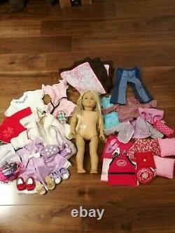 American Girl Doll Julie With Clothing And Accessory Lot