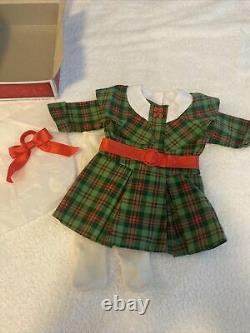 American Girl Doll Kit Beforever Christmas Plaid Dress Htf In Box