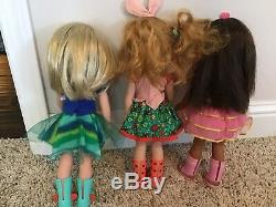 American Girl Doll Lot of 3 Wellie Wishers Camille, Ashlyn And Willa EUC
