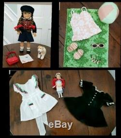 American Girl Doll Molly With Trunk Retired Collection HUGE LOT plus books HTF