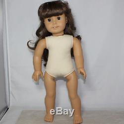 American Girl Doll, Samantha's Steamer Trunk with White Body Doll & Extras Pleas