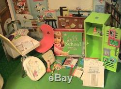 American Girl Doll School Mega Lot Desk, Lunch, Locker, Book Bag Sets & More