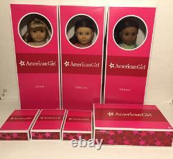 American Girl Doll Sonali, Gwen & Chrissa Lot NRFB