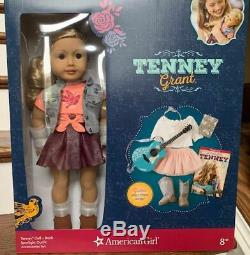 American Girl Doll Tenney Grant & Spotlight outfit & Accessories Guitar NEW