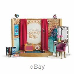 American Girl Doll Tenney's Stage and Dressing Room Set & Microphone NEW