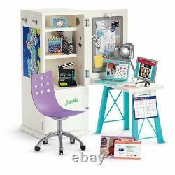 American Girl Doll Z Yang's Desk Set Lamp Photo Work Station NEW