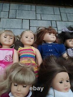 American Girl Dolls & Pleasant Company Lot Of 10 Some Retired/ Sold As-is
