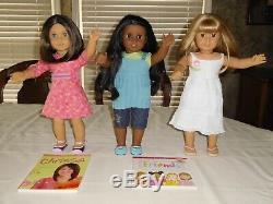 American Girl Dolls Sonali Chrissa And Gwen Best Friends Meet Outfits & Books