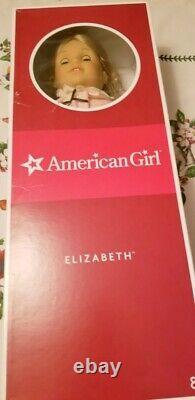 American Girl Elizabeth Doll Lot Riding Meet and Tea Dresses Book Original Box