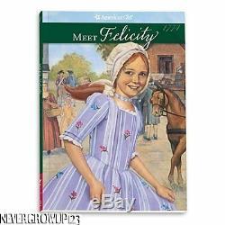 American Girl Felicity Doll And Book + Bonus Doll & Child Bead Braceletsnib